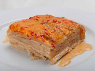 Pimento Cheese and Idaho® Potato Gratin