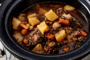Slow Cooker Pork Roast and Potatoes for Idaho® Potatoes