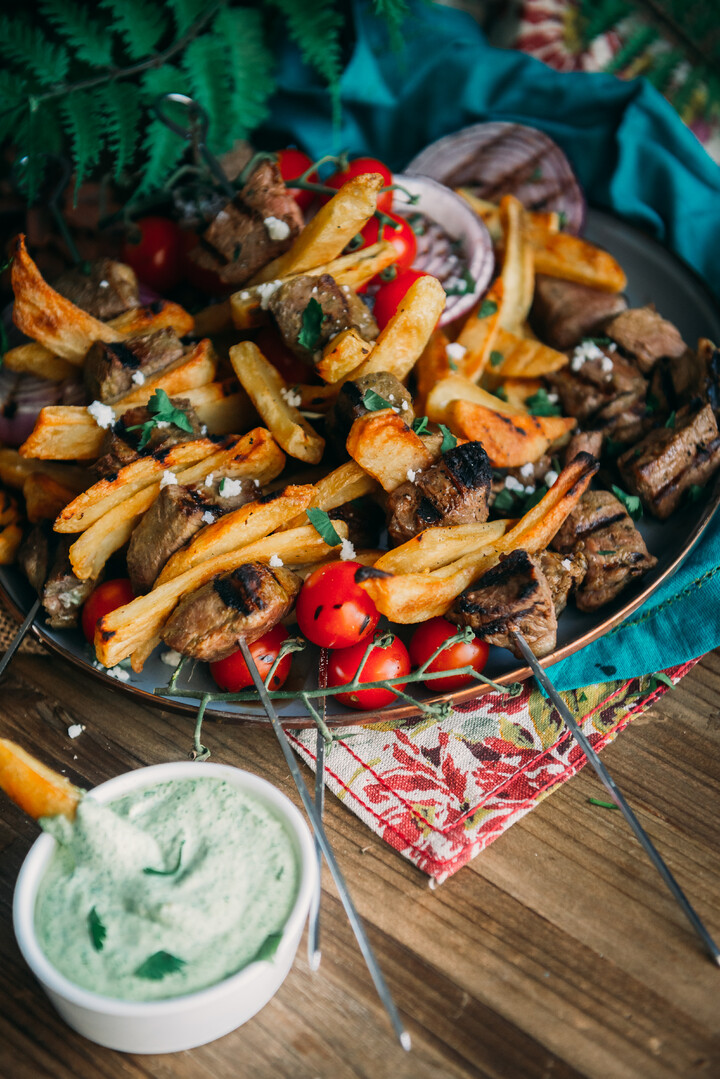 Peruvian-Inspired Steak and Potato Kabobs