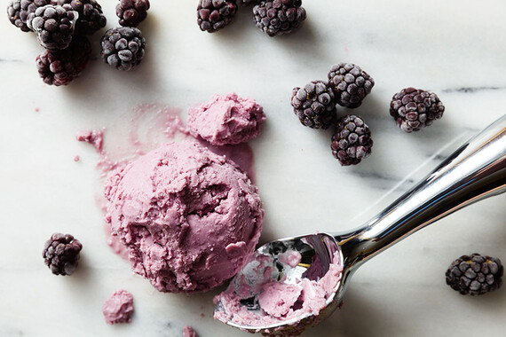 Vegan Coconut & Blackberry Potato Ice Cream