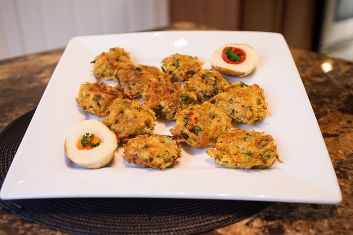 Idaho® Potato, Carrot, and Zucchini Pancakes