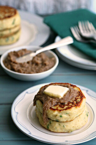 Savory Breakfast Potato Cakes with Pecan Butter
