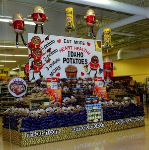 Potato Power Propels Winning Entries in Idaho Potato Commission's 2012 Potato Lover's Month Retail Display Contest