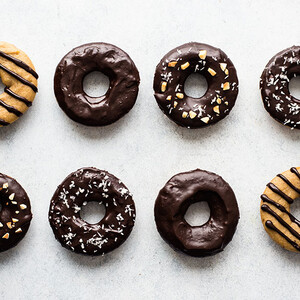Baked Spudnuts with Chocolate Ganache