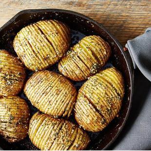 Hasselback Idaho® Potato Skillet Bake