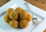 Potato Croquettes with Chorizo, Manchego and Pine Nuts