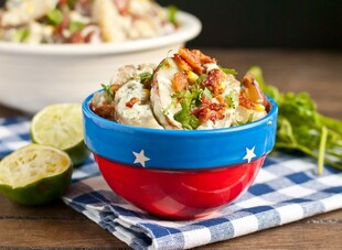 Grilled Jalapeno, Corn, and Bacon Idaho® Potato Salad