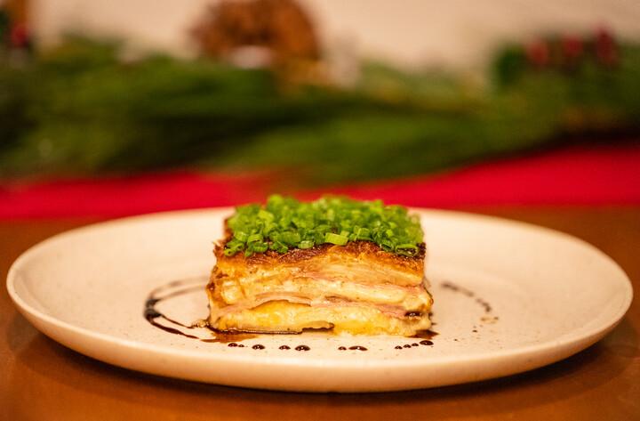 Bourbon Glazed Ham and Cheese Idaho® Scalloped Potatoes