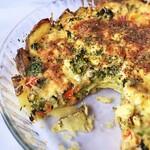 Idaho® Potato-Crusted Summer Vegetable Quiche