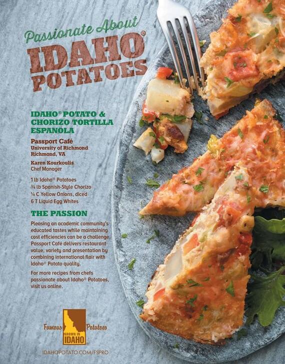 Idaho® Potato and Chorizo Tortilla Espanola