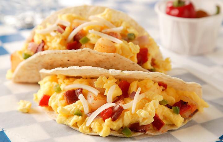 Texas-Style Egg and Idaho® Potato Tacos
