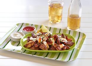 Crispy Idaho® Potatoes with Sweet Chili and Garlic Labna