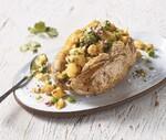 Samosa-Stuffed Idaho® Potatoes with Cilantro Chutney