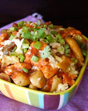 Smashed Idaho® Potato Barbecue Chicken Bowl