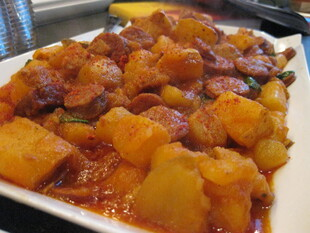 Potatoes Rioja-Style with Chorizo