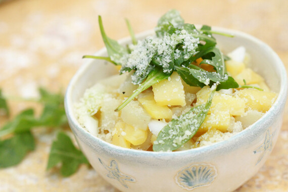 Truffled Idaho® Potato Risotto with Parmesan and Arugula