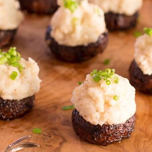 Miso Idaho® Potato Stuffed Balsamic Mushrooms