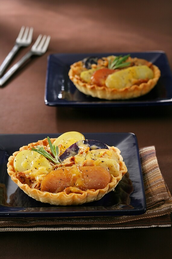 Confit of Idaho® Fingerling Potato Tart