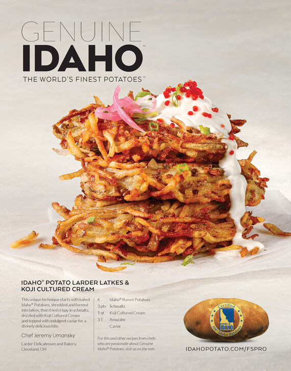 Idaho® Potato Larder Latkes & Koji Cultured Cream