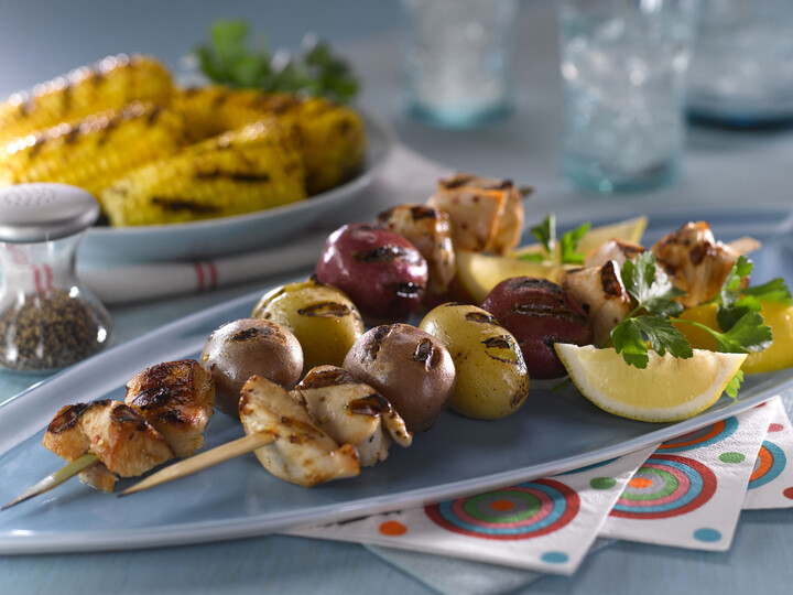 Idaho® Potato and Chicken Skewers
