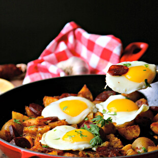 Portuguese Idaho® Potato and Chorizo Skillet