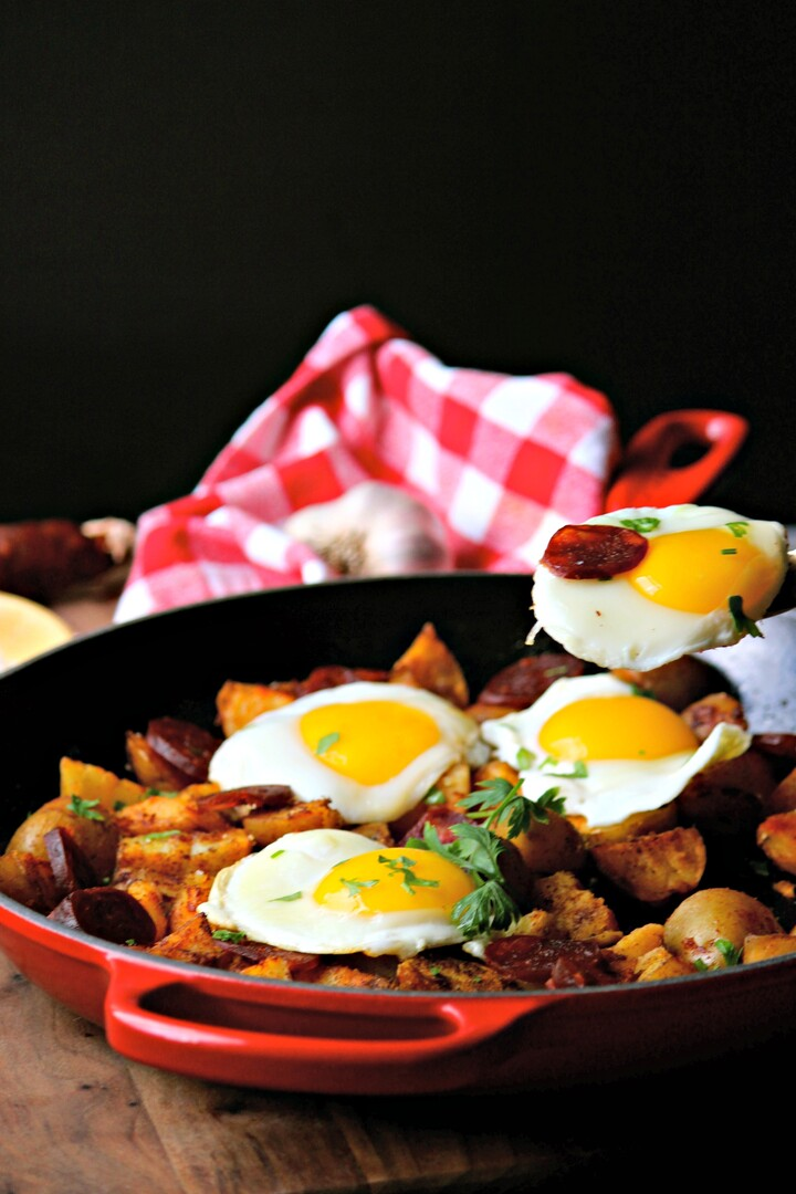 Portuguese Idaho® Potato and Chorizo Skillet