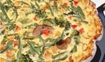 Turkey-Vegetable Hash Brown Quiche