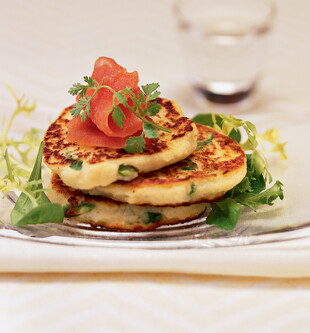 Idaho® Potato and Asparagus Pancakes