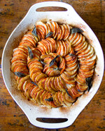 Idaho® Russet and Sweet Potato Tian with Brown Butter and Sage
