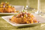 New England Clam Bake Cakes with All-American Idaho® Potato Relish