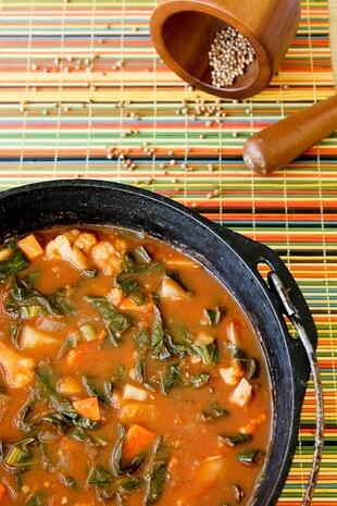 African Stew with Idaho® Potatoes and Cauliflower