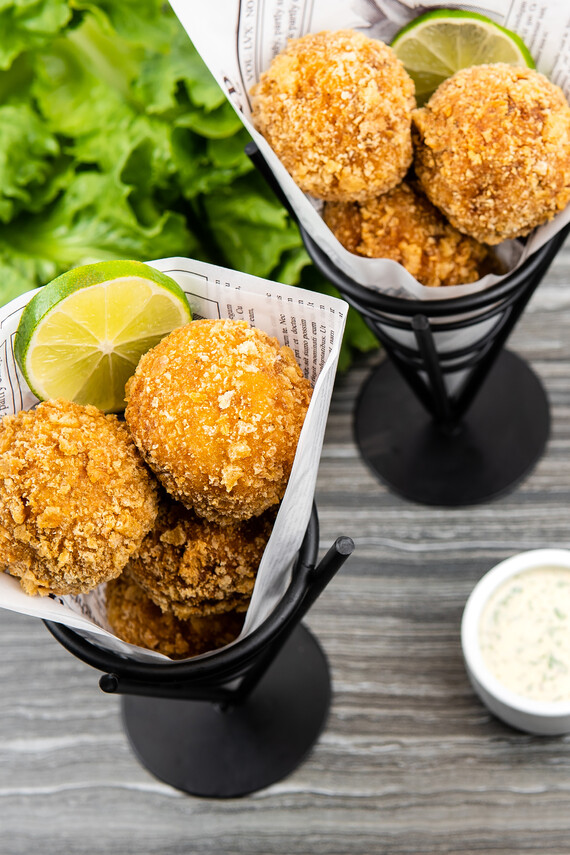 Idaho® Potato Chorizo Croquettes with Litehouse® Jalapeño Cilantro Ranch Sauce
