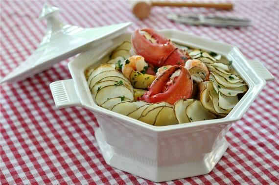 Mediterranean Seafood Casserole