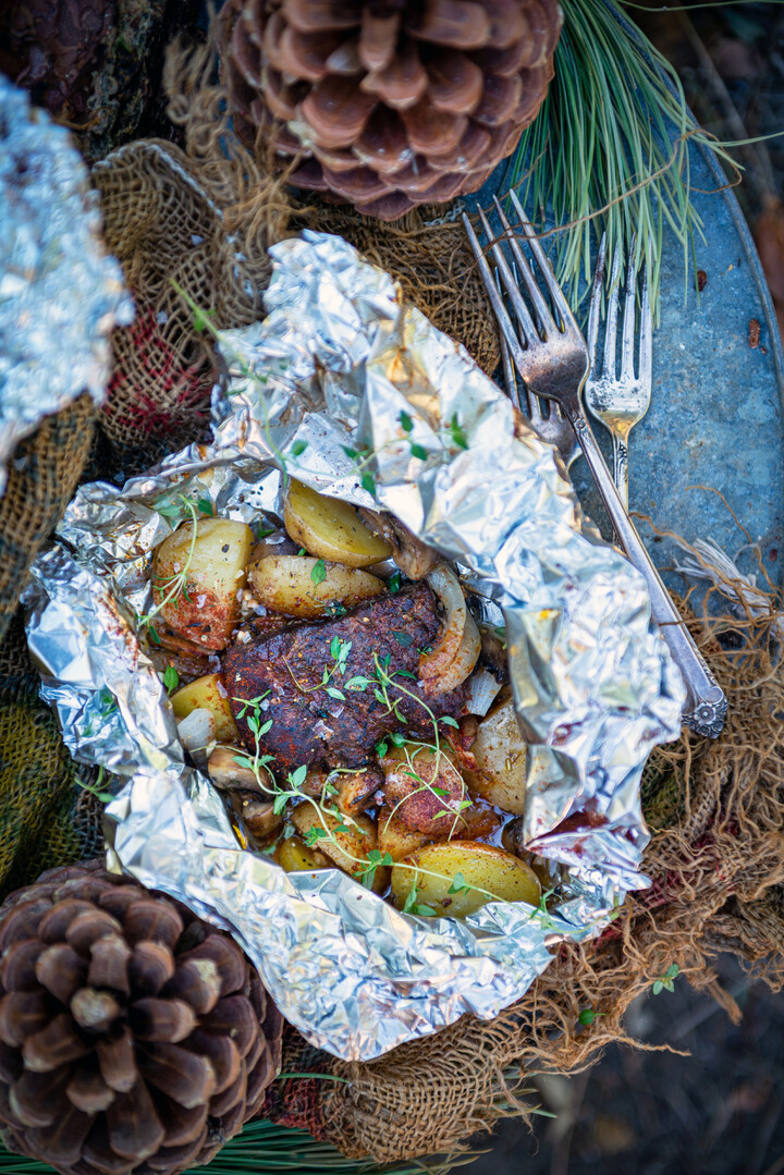 Garlic Steak Foil Packs for Camping