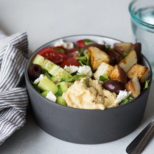 Roasted Idaho® Potato Hummus Bowl