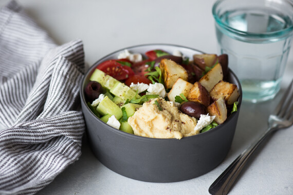 Roasted Idaho® Potato Hummus Bowl