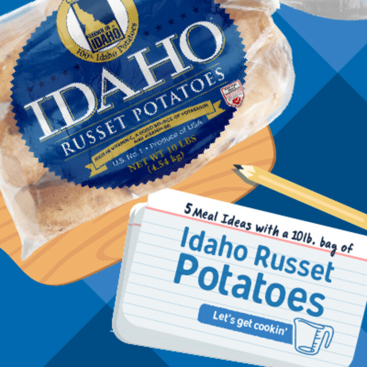 Meal Prep Playbook: 5 meals with a 10lb bag of Idaho® Potatoes