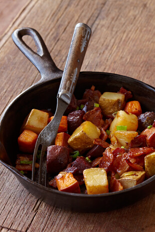 Eat More Jelly Red Flannel Hash