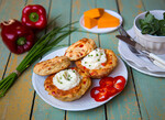 Golden Biscuits with a Creamy Mashed Idaho® Potato Center