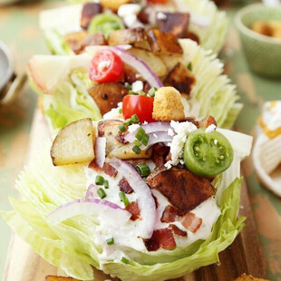 Crispy Potato Wedge Salads