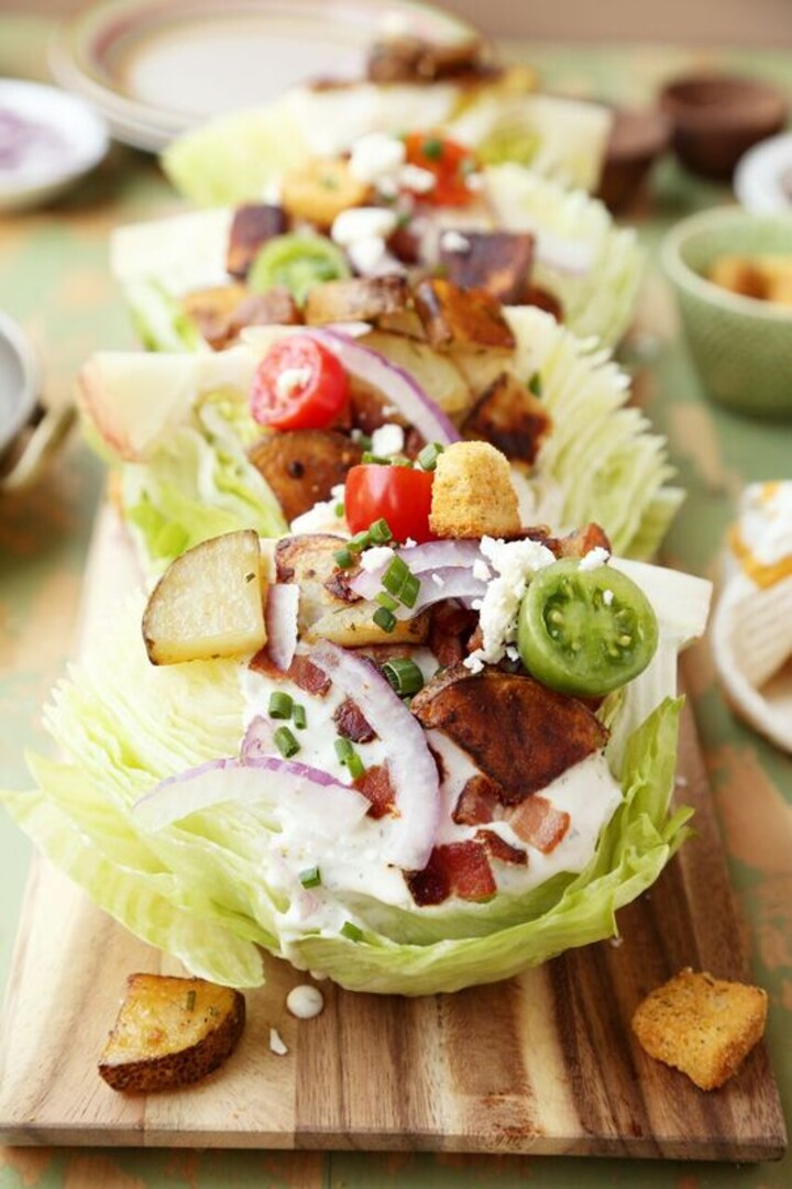 Crispy Potato Wedge Salads