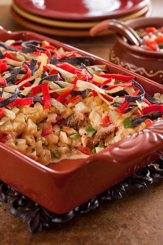 Mexican Cheesy Potato Bake