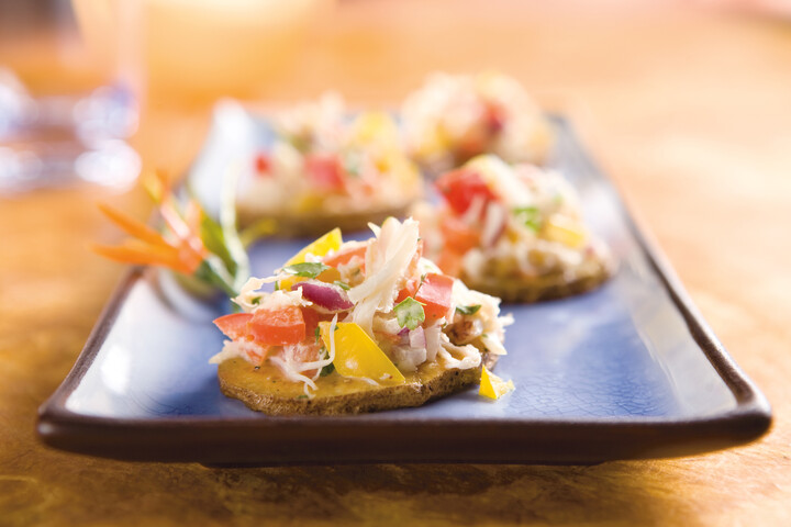 Idaho® Potato Canapé with Baja Crab Salad
