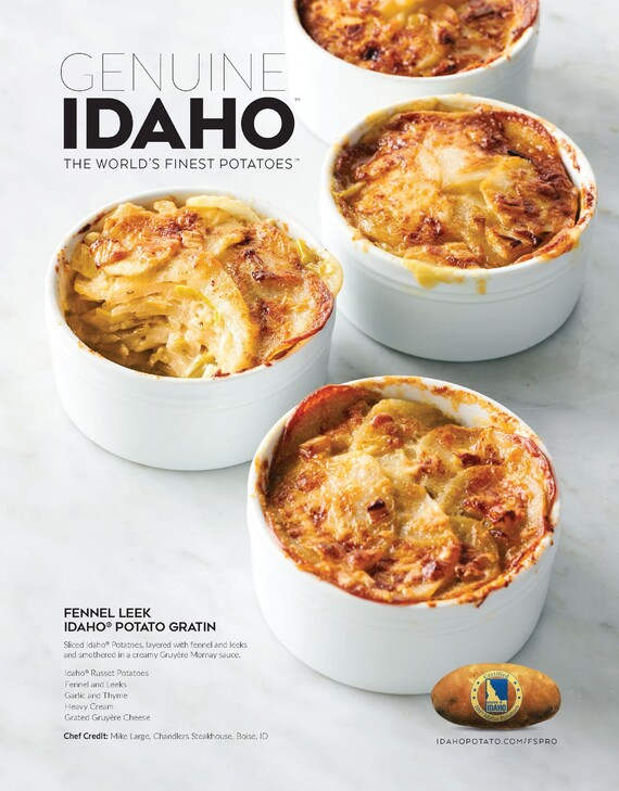 Fennel Leek Idaho® Potato Gratin