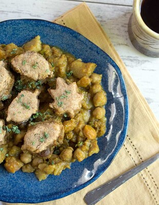 Vegan Slow Cooker Curry Pot Pie with Idaho® Potatoes