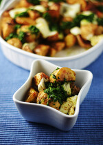 Indian Spiced Roasted Potatoes With Green Chutney