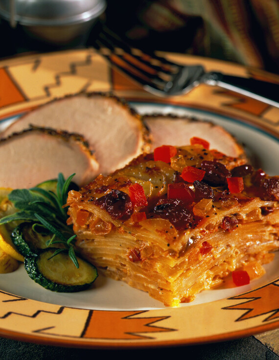 Holiday Idaho® Potato Casserole with Papayas and Pineapple