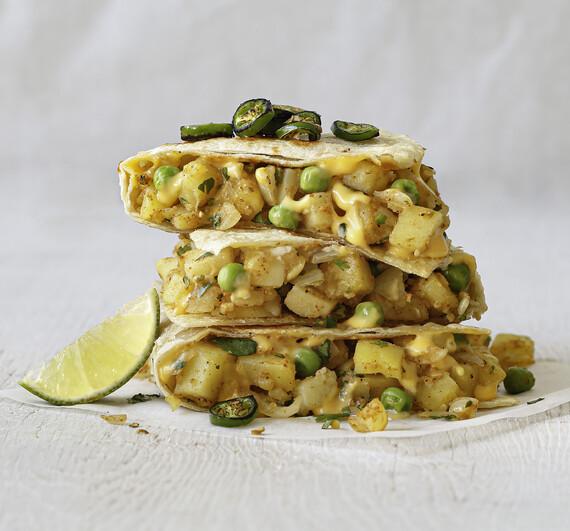Idaho® Potato Samosadilla & Cilantro Lime Chutney