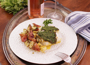 Baked Cod With Idaho® Potatoes and Chermoula For One
