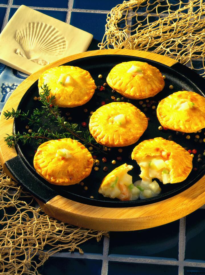 Miniature Potato and Smoked Shrimp Pot Pies